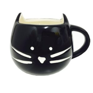 cute mugs with animals black cat