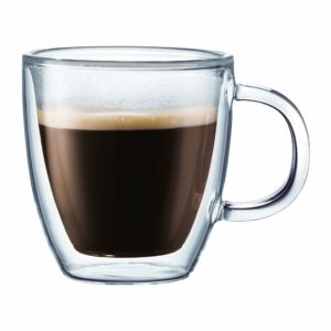 Bodum Bistro Double-Wall Insulated Glass Mug with handle review
