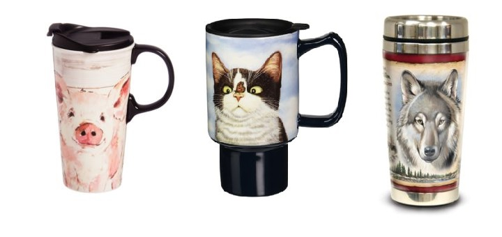 Cool Travel Mugs With Animals Which You Can Buy Right Now
