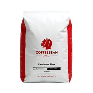 Coffee Bean Direct Poor Man's Blend cheapest Whole Bean Coffee
