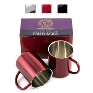 Farnsworth & Lloyd Double Walled Coffee Cup Set's