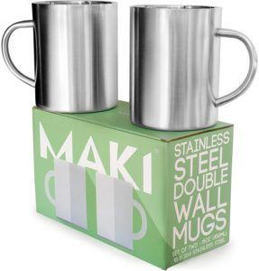 Double wall stainless steel mug thermal insulated vacuum mugs