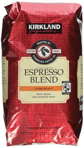 Kirkland Signature Starbucks Espresso Blend Dark Roast coffee beans