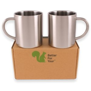Top rated stainless steel coffee mugs with handles