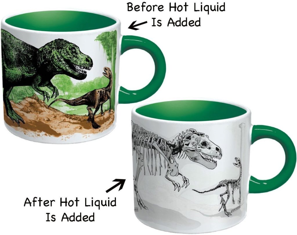 Dino color changing mug