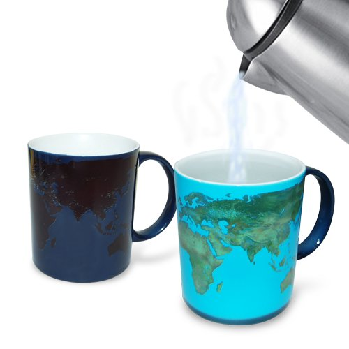 Heat-sensitive day night coffee mug