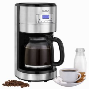 VonShef Programmable Digital Coffee Maker 12 Cup Capacity - Reviews the best coffeemaker