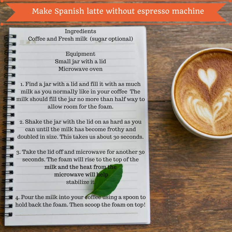 How to make cafe con leche without an espresso machine