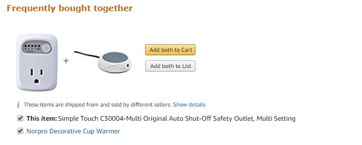 Coffee cup warmer automatic shut-off function