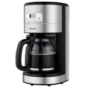 Reviews Aicok coffee maker 12 cup programable