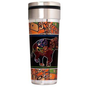 travel tumbler mug with animals