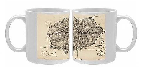 Napoleon st Helena coffee mug