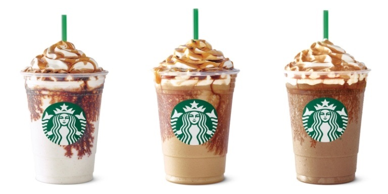 frappuccino types at starbucks