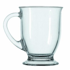 clear glass coffee mugs for sale