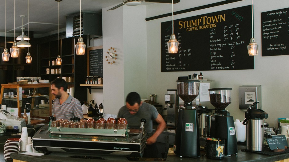 Coffee scene Portland Stumptown