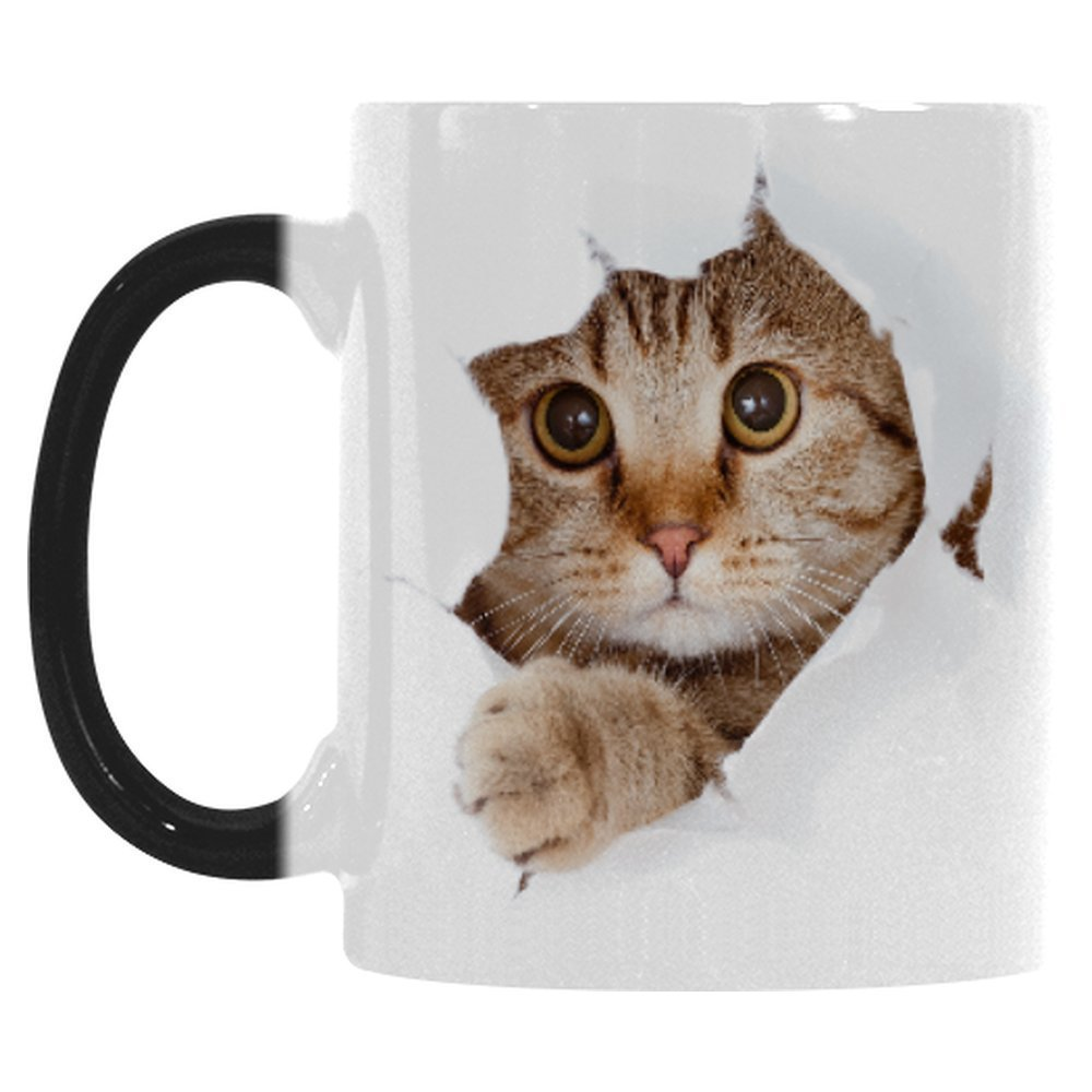 Cat lovers color changing morphing mug