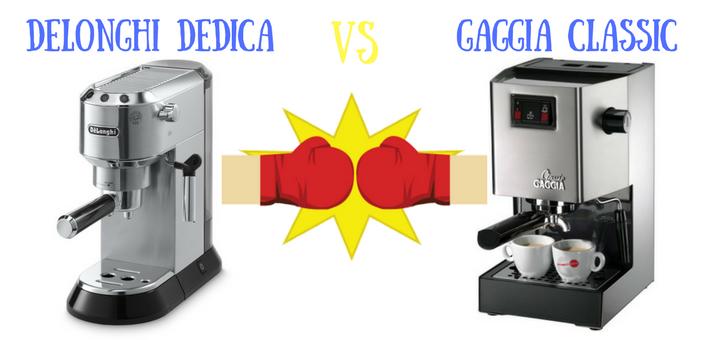 Delonghi Dedica vs Gaggia Classic Comparison – Which Espresso Maker Is Better?