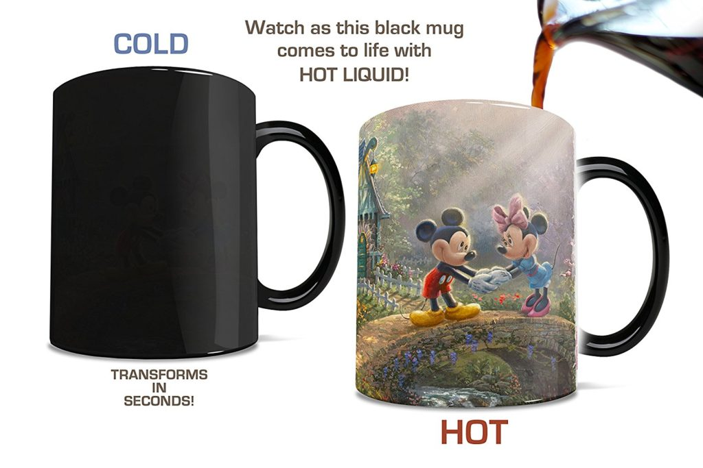 Disney heat changing photo mugs