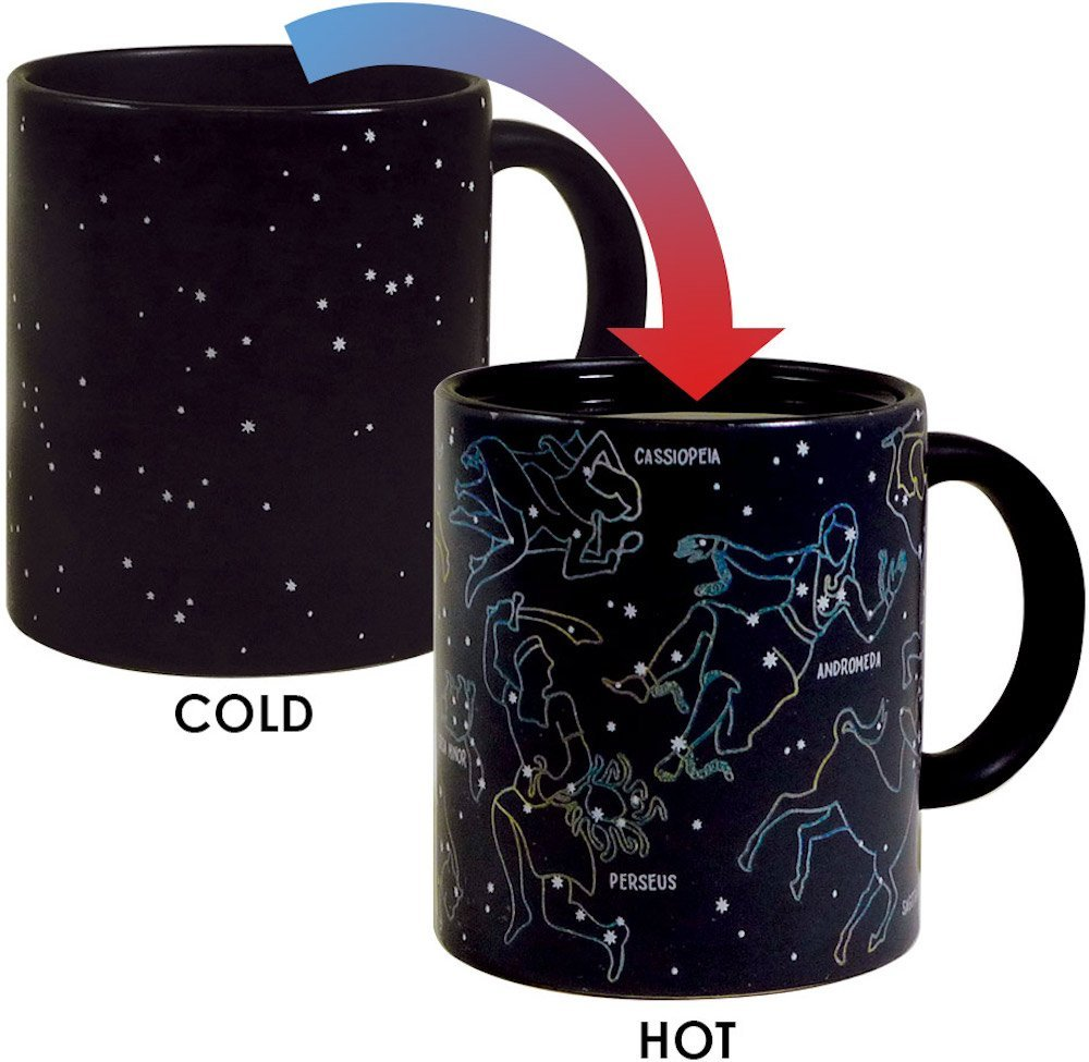 Mug that change color with hot coffee