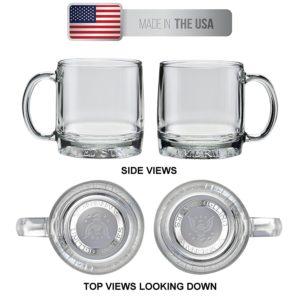 Culver Mug America Glass Mug, Patriotic American Eagle Design