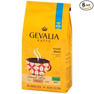 GEVALIA decaf great coffee for French press