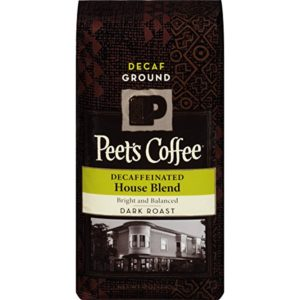 Peets decaf ground coffee