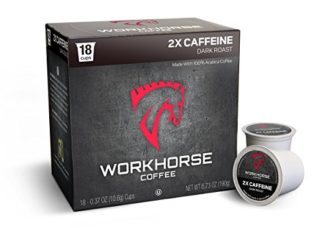 Workhorse Coffee Single Serve K-Cup double caffeine