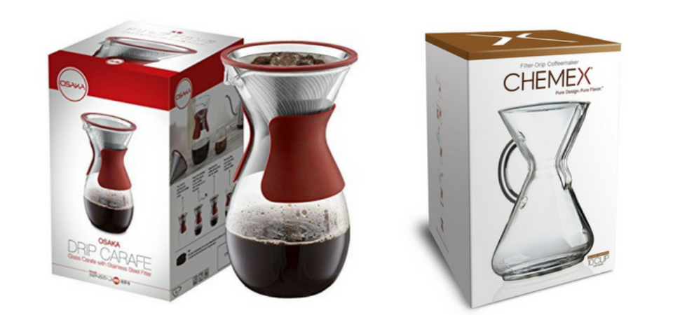Osaka vs Chemex pour over coffee brewer comparison