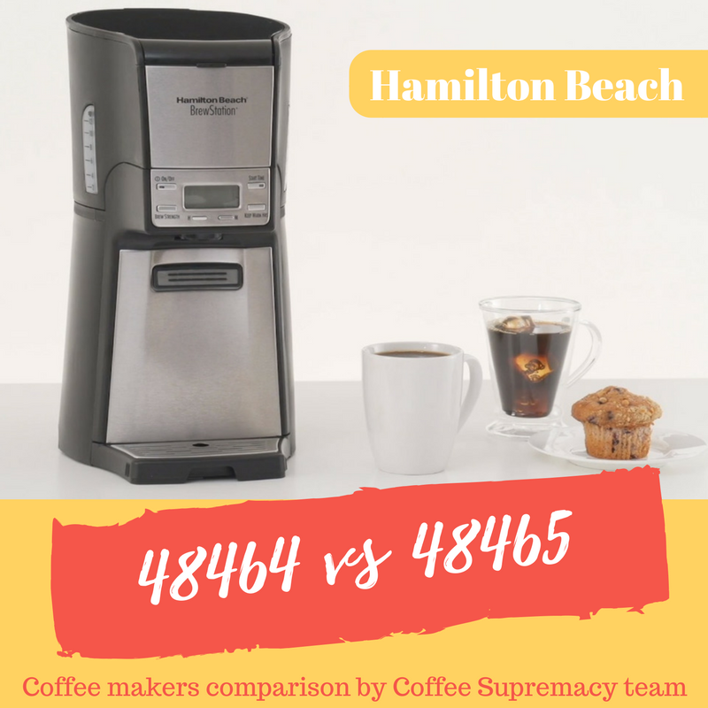 Difference between Hamilton Beach 48464 and 48465 great 12-cup coffee maker models