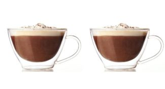 Lily's Home Glass Double Wall Cappuccino Mugs